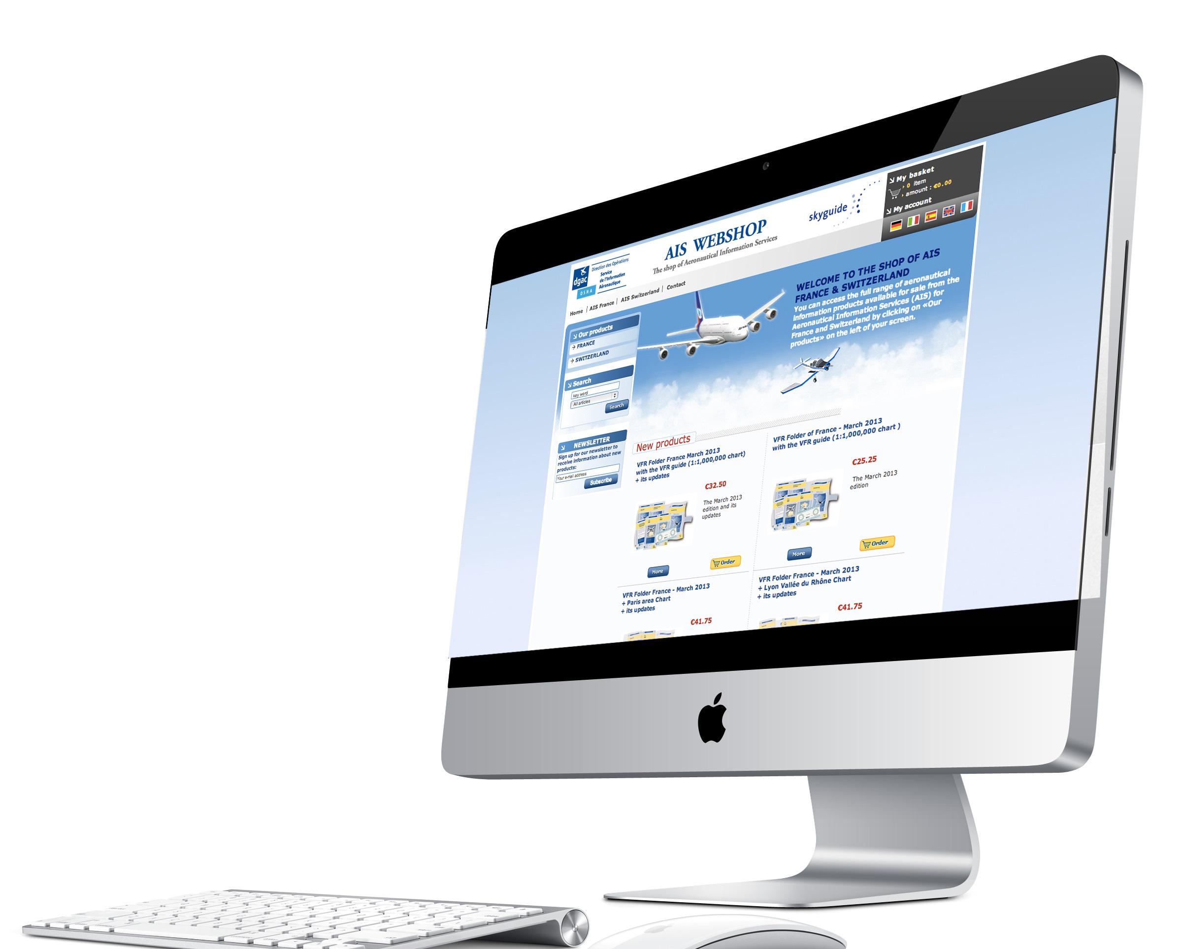 DGAC / AisWebShop – eCommerce